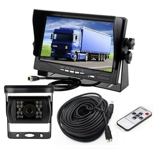Парковочный авто-монитор TFT-LCD с камерой 12V/24V для грузовиков, автобусов, спецтехники, сельхозтехники