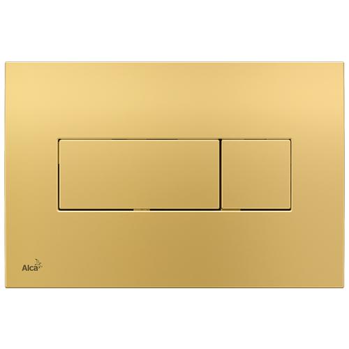 Кнопка смыва AlcaPLAST M375 золотой кнопка смыва alcaplast m1732 xром мат