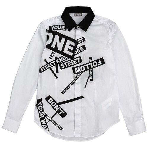 Рубашка Gulliver размер 140, белый
