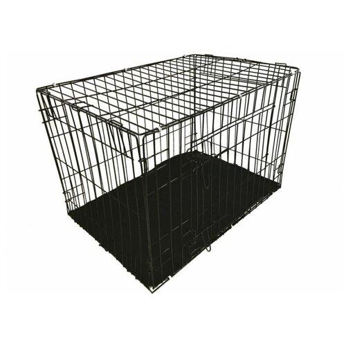 Клетка-трансформер Roklet СКС №6 для средних и больших собак, черная 107*70*70