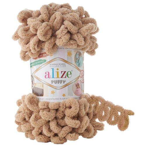Купить Пряжа для вязания Alize 'Puffy' 100г 9м (100% микрополиэстер) (262 беж), 5 мотков