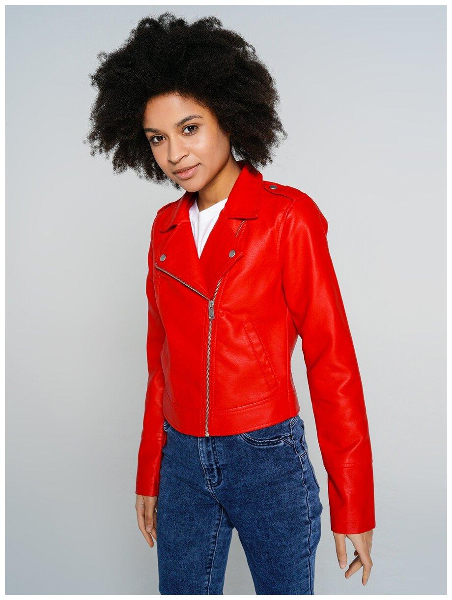 Куртка из экокожи ТВОЕ A5784 размер XS, красный, WOMEN — купить по выгодной цене на Яндекс.Маркете