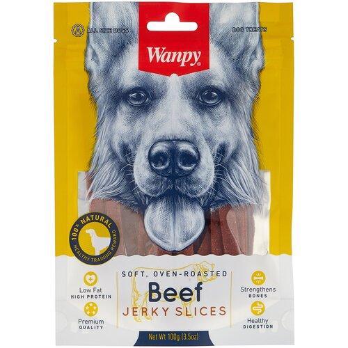 Лакомство для собак Wanpy Соломка из вяленой говядины, 100 г