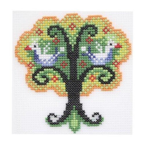 Купить П-0025 Набор для вышивания на пластиковой канве Hobby & Pro Kids 'Чудо-дерево', 12*12, 5 см, Наборы для вышивания