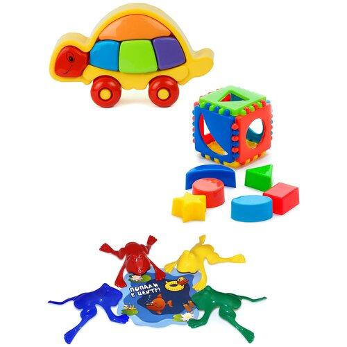 Купить Набор развивающий: Логическая черепашка + Кубик логический малый + Команда КВА №1 KAROLINA TOYS, Развивающие игрушки