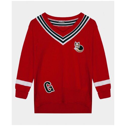 Купить Красный джемпер Gulliver, размер 104*56*51, модель 22002GMC3101, Свитеры и кардиганы