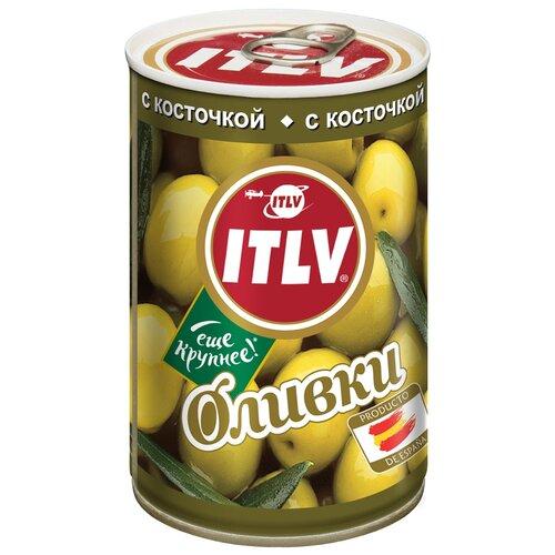 ITLV Оливки зеленые с косточкой в рассоле, 300 г itlv маслины super с косточкой
