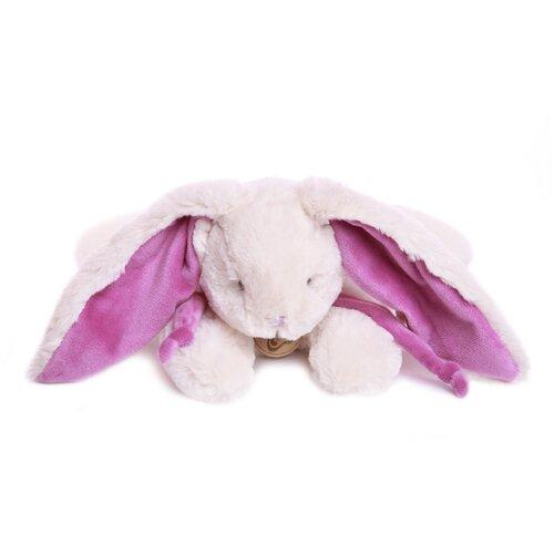 Мягкая игрушка Кролик 30 см белый/фиолетовый