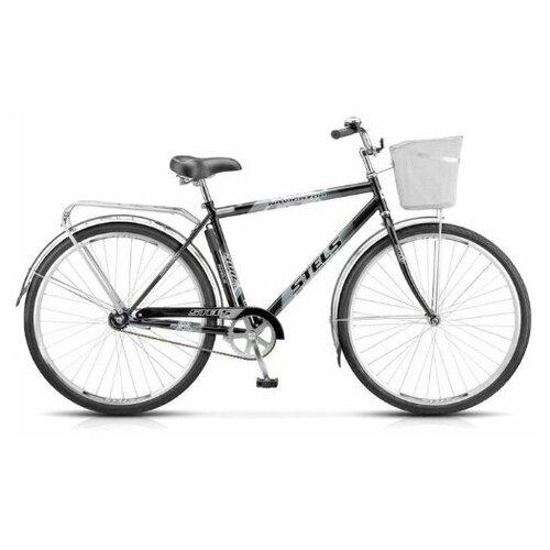 велосипед stels navigator 300 gent 28 z010 20 синий Велосипед Stels Navigator 300 Gent 28 Z010 (2018) 20 серый + корзина