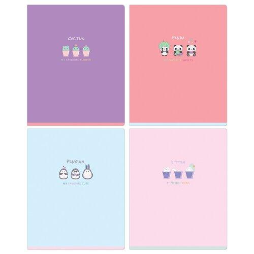 Купить MESHU Упаковка тетрадей Sweet mono MS_31332, 10 шт./4 дизайна, клетка, 48 л., Тетради