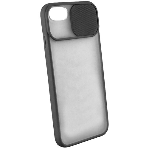 Защитный чехол с защитой камеры для iPhone 6 / 7 / 8 / на Айфон / бампер / накладка на телефон / Черный