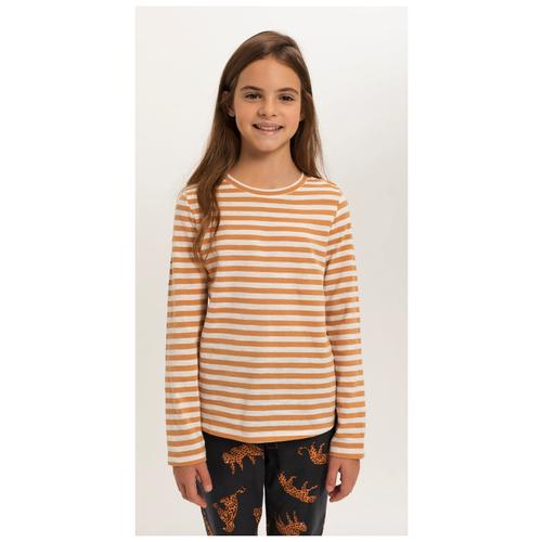 Лонгслив Sela, размер 146 (11-12лет), коричневый брюки sela размер 146 коричневый