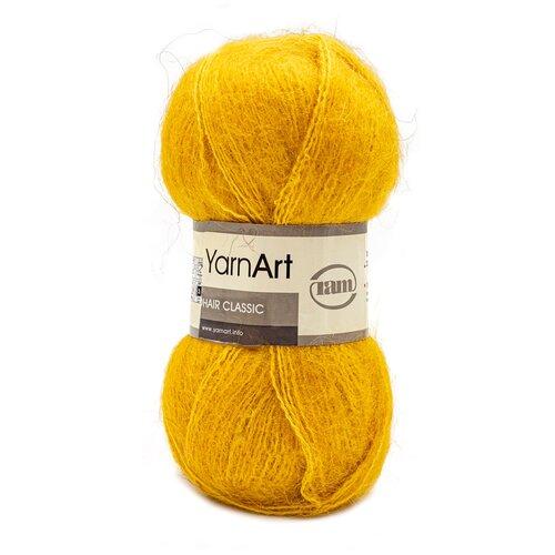 Купить Пряжа YarnArt 'Mohair' 100гр 220м (70% мохер, 30% акрил) (136 желтый), 5 мотков