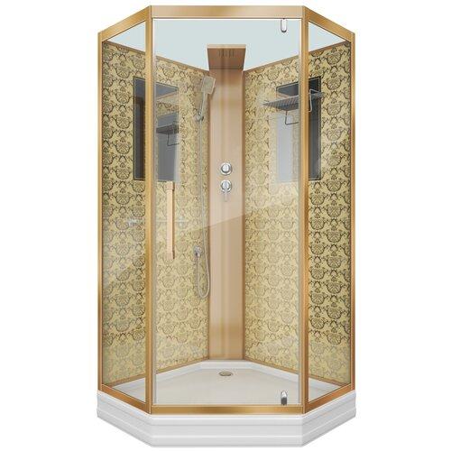 Душевая кабина Niagara Luxe NG-7799 BK низкий поддон 90см*90см золотистый прозрачное душевая кабина am pm like высокий поддон 90см 90см хром прозрачное