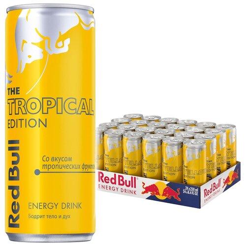 Фото - Энергетический напиток Red Bull тропические фрукты, 0.25 л, 24 шт. энергетический напиток solar power 0 45 л 6 шт