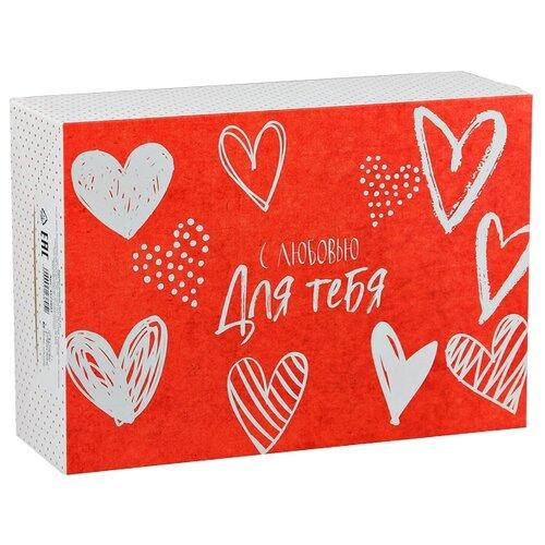 Коробка подарочная Дарите счастье С любовью для тебя 23 х 7.5 х 16 см красный/белый коробка подарочная дарите счастье с любовью для тебя 23 х 7 5 х 16 см красный белый