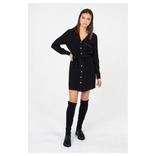 платье only only on380ewcaxr7 Платье ONLY 15178591 женское Цвет Черный Black Однотонный р-р 48 40
