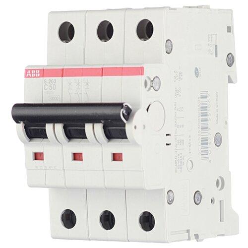 Автоматический выключатель ABB S203 3P (B) 6kA 50 А