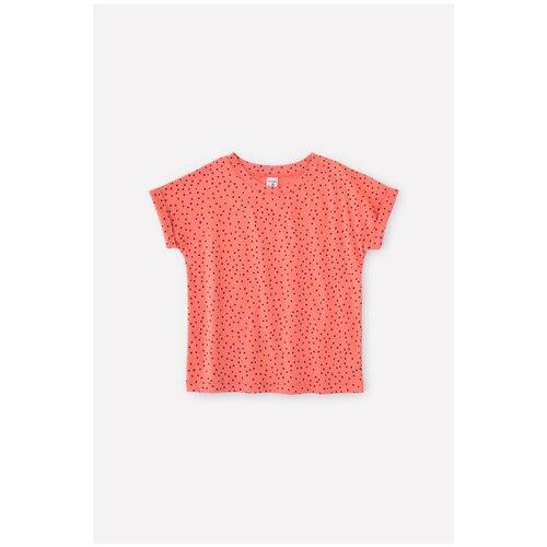 Фото - Футболка crockid, размер 122, коралл/маленькие крапинки футболка crockid размер 122 леденец