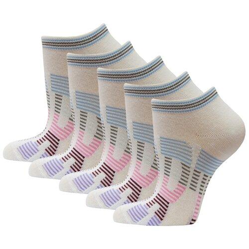 Носки спортивные женские короткие HOSIERY 71141 р 21-23 5 пар