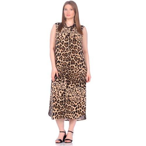 Фото - Платье - туника из вискозы Sunrise (PM France 221) размер XL (50), леопард платье туника panicale платье туника