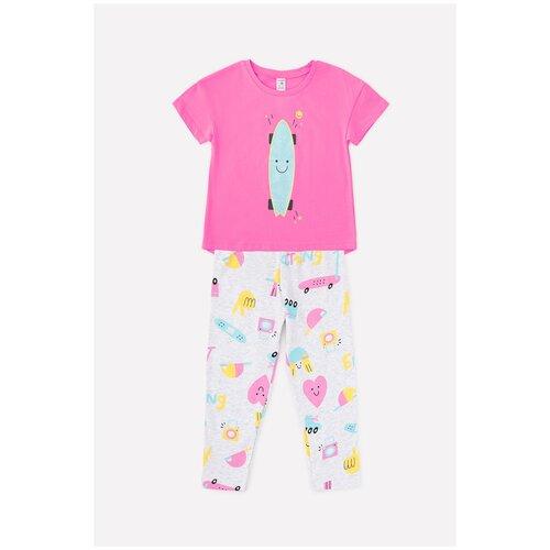 Фото - Комплект одежды crockid размер 98, розовый/светло-серый меланж халат crockid размер 98 серый меланж