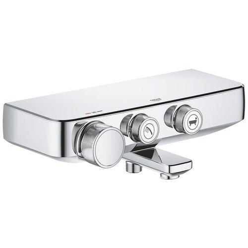 Смеситель для ванны с подключением душа Grohe Grohtherm SmartControl 34718000 однорычажный с термостатом хром смеситель для ванны с подключением душа omnires fresh fr7136 однорычажный с термостатом встраиваемый хром
