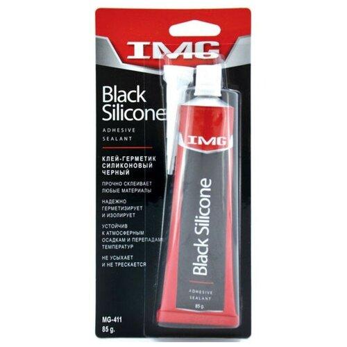 Универсальный силиконовый клей-герметик для ремонта автомобиля IMG MG-411, 0.085 кг черный
