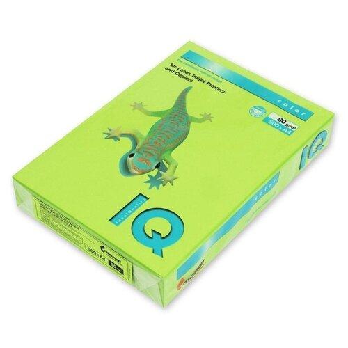 Фото - Бумага цветная А4 500л IQ COLOR, 80г/м2, зеленая липа, LG46 1520942 запарник для бани липа 12 л