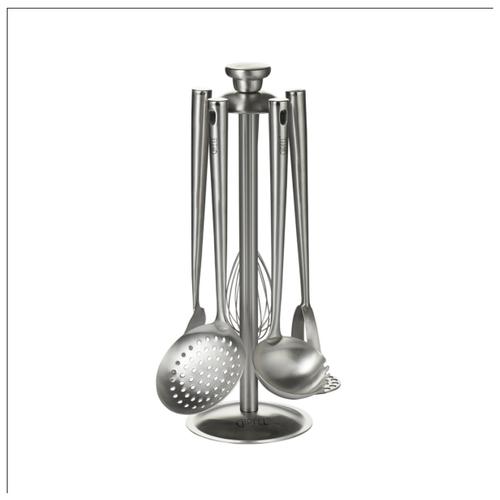 Набор кухонных инструментов GIPFEL 6074 MONCLER 5 предметов на подставке стальной набор принадлежностей gipfel 5 предметов