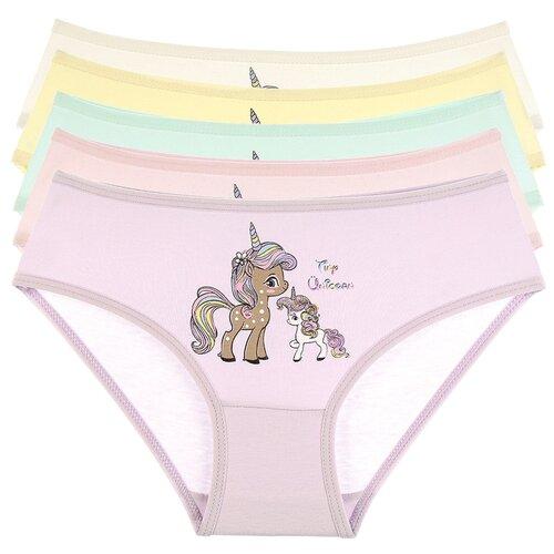 Купить Трусы для девочек 4171TU, Цвет: Микс, Размер: 4/5, 5шт. в упаковке, Donella, Белье и купальники