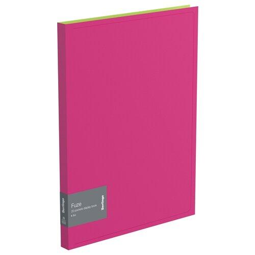 Купить Berlingo Папка с 20 вкладышами Fuze А4, 14 мм, 600 мкм, пластик розовый, Файлы и папки