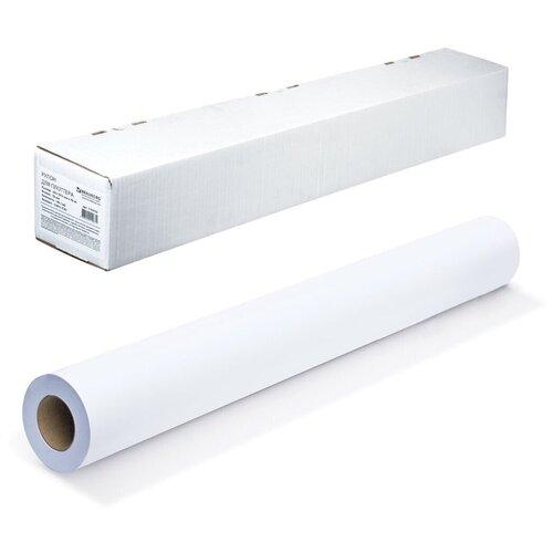 Фото - Бумага BRAUBERG A0 914мм 45м 90г/м2 (110450), белый бумага для плоттера cactus cs pc90 61045 24 610мм x 45м 90г м2 с покрытием