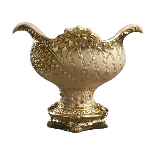 Кашпо Хорошие сувениры Бусинка 34 х 21 х 28 см слоновая кость/золотистый