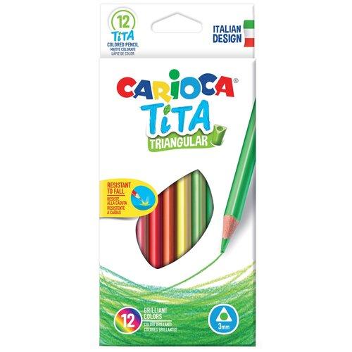 Фото - Carioca набор цветных карандашей Tita 12 цветов (42786) набор цветных карандашей carioca tita 6 шт 174 мм