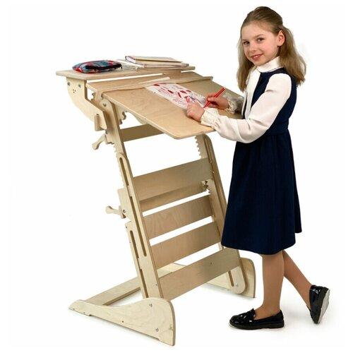 Купить Стол для учебы стоя с регулировкой высоты и наклона столешницы на рост 90-160 см, ЖивиСтоя, Парты и столы