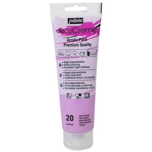 Купить Краска акриловая Pebeo кремовая, матовая, decoCreme, 120 мл, фиолетовый, Краски