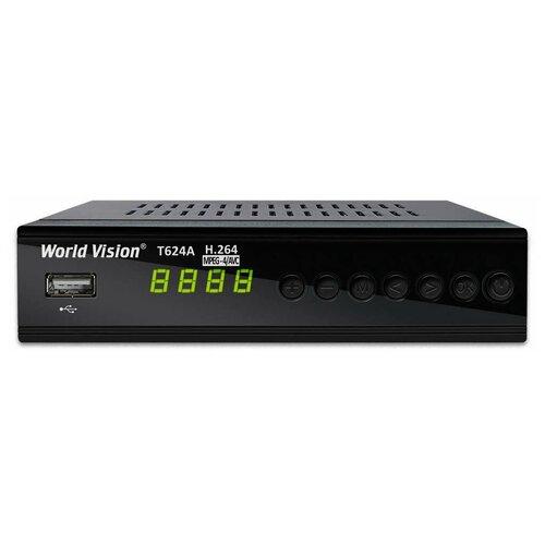 Фото - TV-тюнер World Vision T624A черный tv тюнер lumax dvbt2 555hd черный
