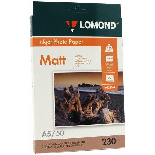 Фото - Бумага Lomond A5 Photo Paper 0102069 230 г/м² 50 лист., белый бумага lomond a6 photo paper 0102084 230 г м² 500 лист