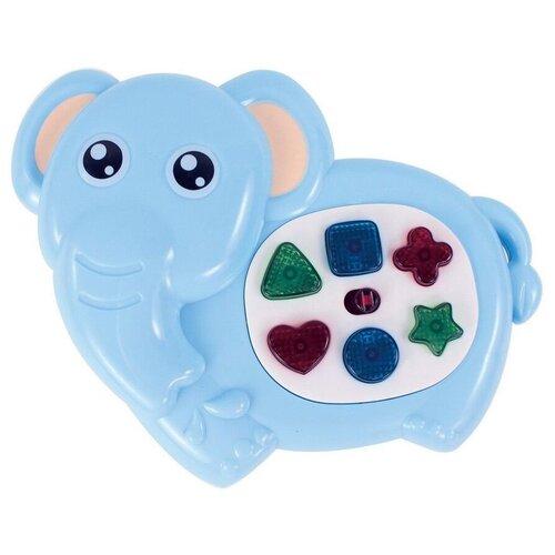 Купить Развивающая игрушка Junfa toys Потеша музыкальные зверята Слоник ZY1134094 голубой, Развивающие игрушки