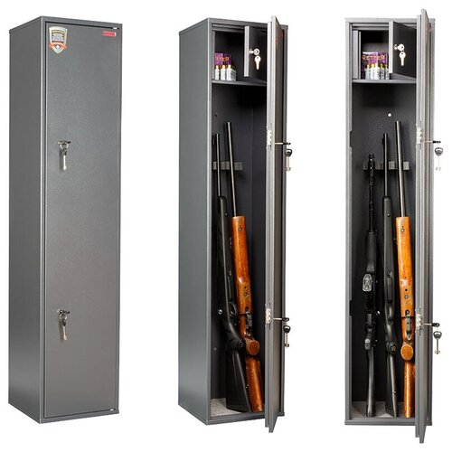 Сейф Aiko Чирок 1328 оружейный, 1385*300*285мм, (2ключевых замка), с трейзером, 4 ствола (ПОД ЗАКАЗ)