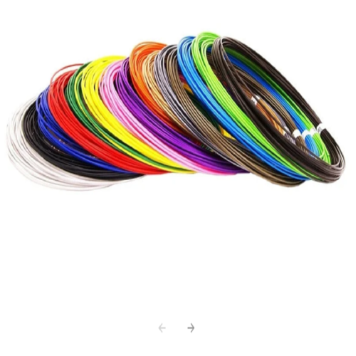 Набор пластика для 3D ручек U3FAN PETG10 цветов по 10 метров.