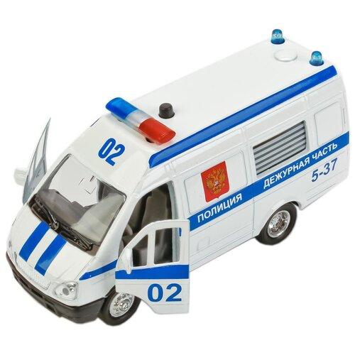 Фургон ТЕХНОПАРК Газель Полиция (CT-1276-16) 1:43, 13 см, белый