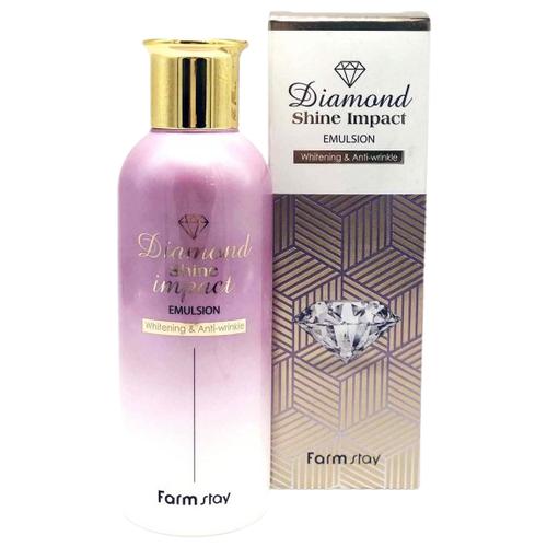 Farmstay Diamond Shine Impact Emulsion Антивозрастная бриллиантовая эмульсия для лица, 200 мл