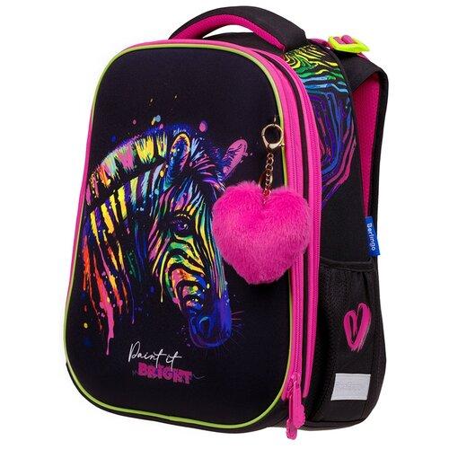 Купить Berlingo Ранец Expert Neon Zebra, черный/розовый/неоновый, Рюкзаки, ранцы