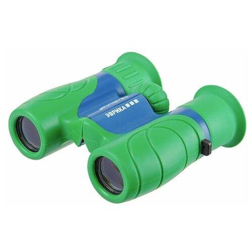 бинокль детский veber эврика цвет желтый черный Бинокль Veber Эврика 6x21 зеленый/синий
