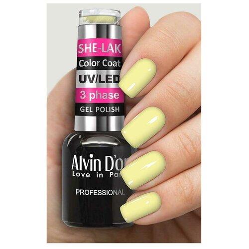 Купить Гель-лак для ногтей Alvin D'or She-Lak Color Coat, 8 мл, 35131