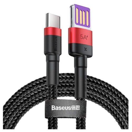 Кабель Baseus Cafule HW Quick Charging Double-sided Blind Interpolation USB - USB Type-C 1 м, 1 шт., черный/красный, 1 м кабель baseus double fast charging usb usb type c catkc 1 м красный