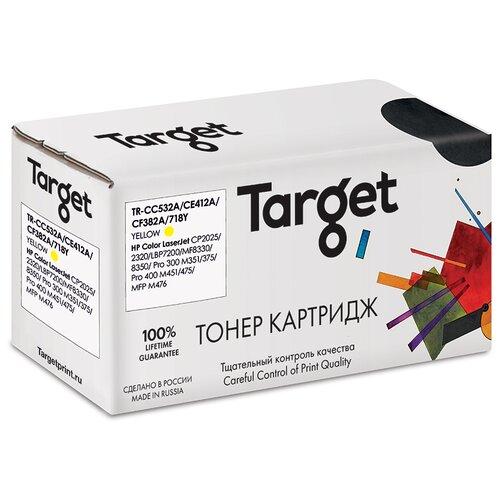 Фото - Картридж Target CC532A/CE412A/CF382A/718Y, желтый, для лазерного принтера, совместимый картридж sakura cc532a crg718y совместимый