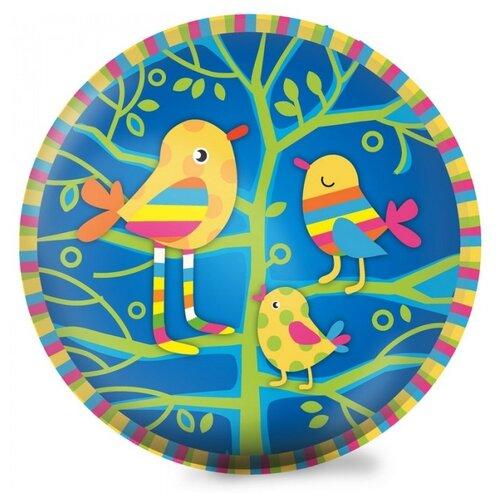 Мяч ЯиГрушка Птички, 23 см, синий